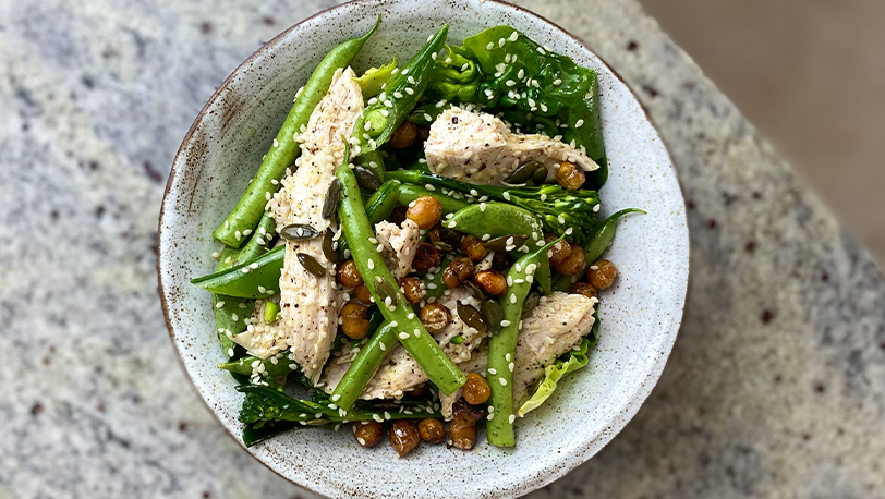 Roast Torn Chicken with Ginger Dressing