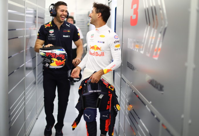 F1 Grand Prix of Bahrain - Daniel Ricciardo and Michael Italiano