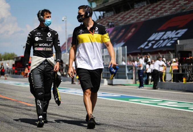 Daniel Ricciardo and Michael Italiano